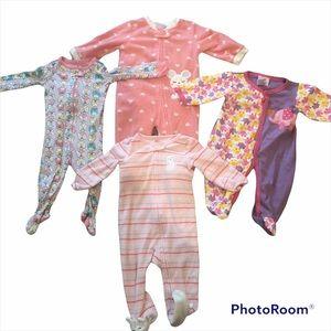 Bundle of 4 6-9 month girl sleepers